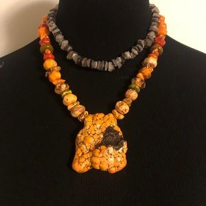 Jewelry - Bumblebee Jasper Chunky Necklace Bracelet Ring Set